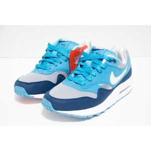 Nike Youth Air Max 1 Size 4.5 Blue 807602-003